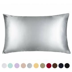 100% Pure Mulberry Silk Pillowcase Bed 19 Momme for Hair and