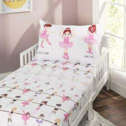 Everyday Kids 3-Piece Toddler Fitted Sheet, Flat Sheet and P