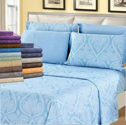 Deep Pocket Bed Sheets 6 Piece Set 1800 Count Egyptian Comfo