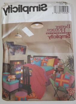 Simplicity 8693 Sewing Pattern Bedroom Home Decor Bed Skirt~