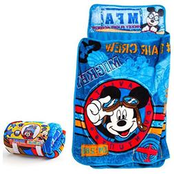 Disney's Mickey Mouse Quilted Toddler Nap Mat with Blanket a