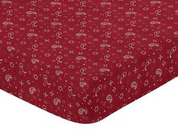 FITTED CRIB TODDLER SHEET FOR SWEET JOJO DESIGNS WESTERN BED