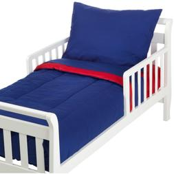 TL Care 100% Cotton Percale Toddler Bed Set, Royal, for Boys