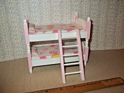ADORABLE LITTLE GIRL  BUNK BEDS   - DOLL HOUSE  MINIATURE