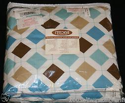 Bacati Aqua Chocolate Mod Diamonds Stripes Toddler Bedding S