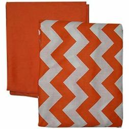 Baby Sheets Doll Bedding Chevron And Solid Color Fitted Crib