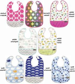 Kushies Cleanbib Infant or Toddler Waterproof Clean Bib with