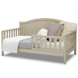 Convertible Toddler to Full Bed White Farmhouse Daybed w Rai