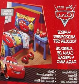 DISNEY CARS CHAMPIONS BLUE COMFORTER SHEETS 4PC TODDLER BEDD