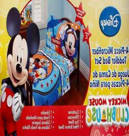 DISNEY MICKEY MOUSE CAPTAIN BLUE COMFORTER SHEETS 4PC TODDLE