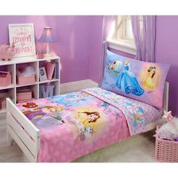 Disney Princess Adventure Rules 4 Pcs Toddler Bedding Set co