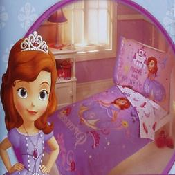 DISNEY SOFIA PRINCESS PURPLE COMFORTER SHEETS 4PC TODDLER BE
