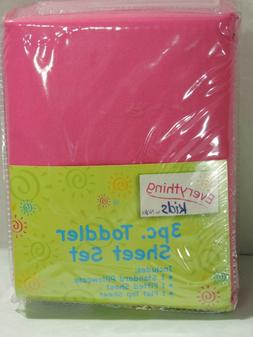 Everything Kids By Nojo Pink 3 Piece Toddler Sheet Set Fitte