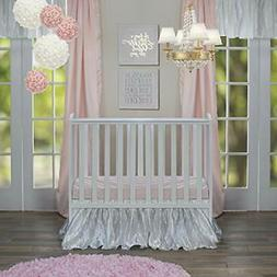 Glenna Jean Crib Skirt Fly-By Dust Ruffle for Baby Nursery Crib