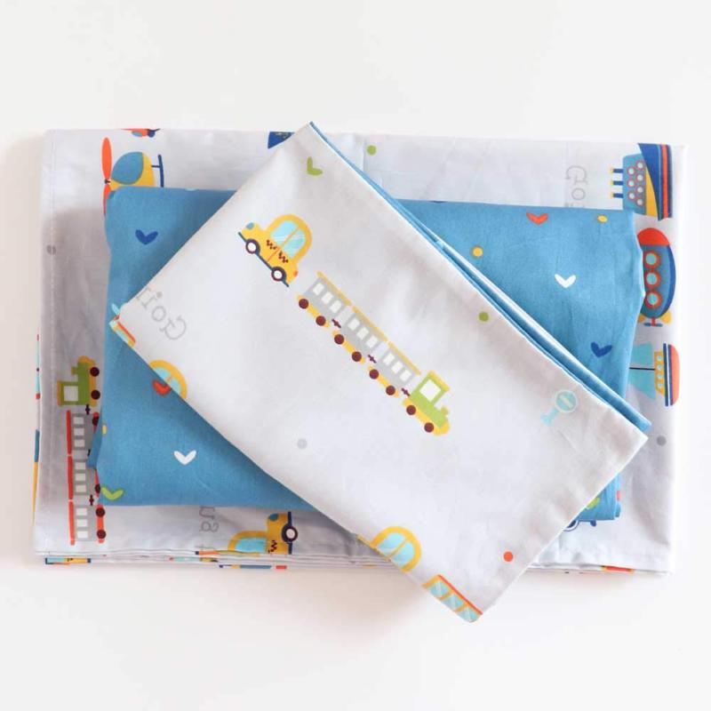 100% Cotton Crib Set Girls,3Pcs Duvet