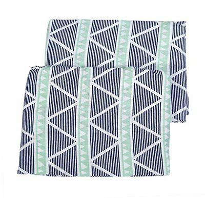 Bacati Aztec/Tribal Crib/Toddler Bed Fitted Sheets Cotton Mu