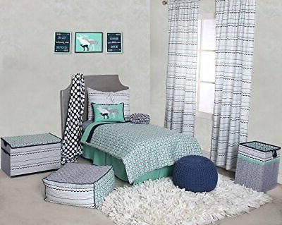 Bacati - Tribal Toddler Bedding Products 4 pc Toddler Beddin