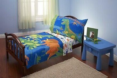 dinosaurs 4 piece toddler bedding see details