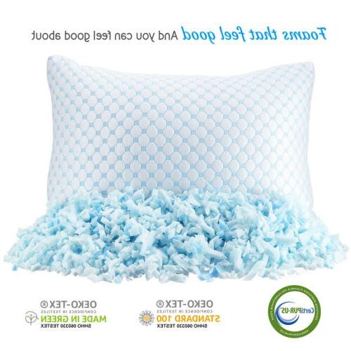 Memory Foam Heat and Moisture Ice Silk and Gel Infused