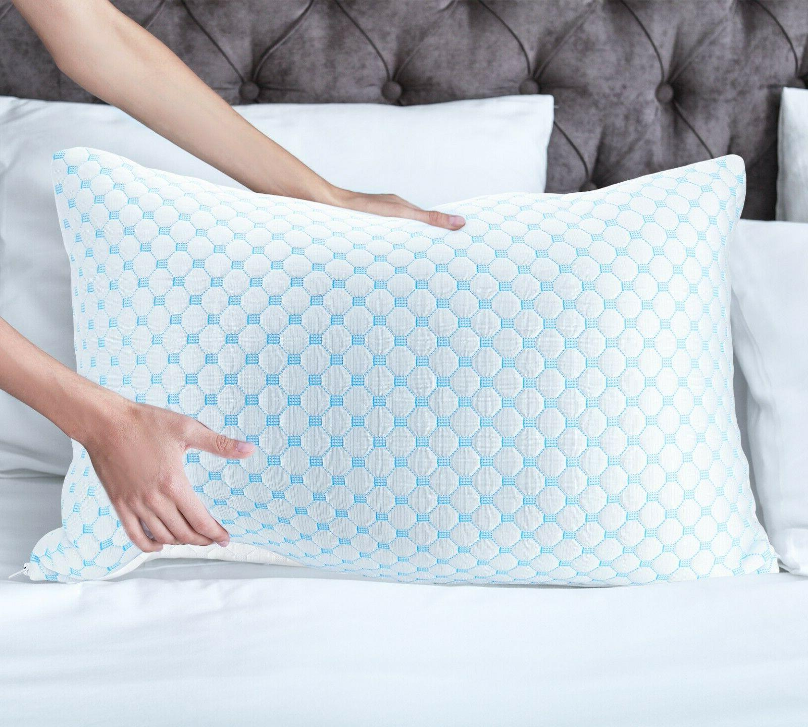 Memory Pillow Heat and Ice Silk and Infused