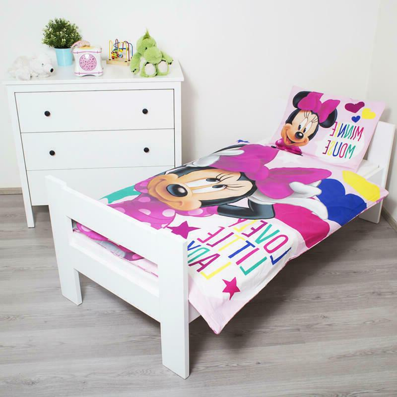 MINNIE MOUSE bedding cot toddler Disney pink set kids
