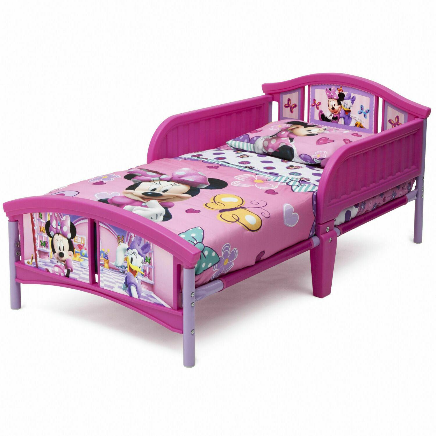 minnie mouse plastic toddler bed delta girls
