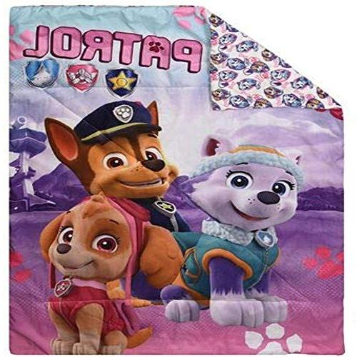 Paw Patrol Pink 3 Piece - Comforter, Fitted Sheet & Pillowcase