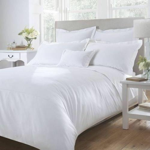 QUEEN SIZE WHITE SOLID BED SHEET SET 800 THREAD COUNT EGYPTI