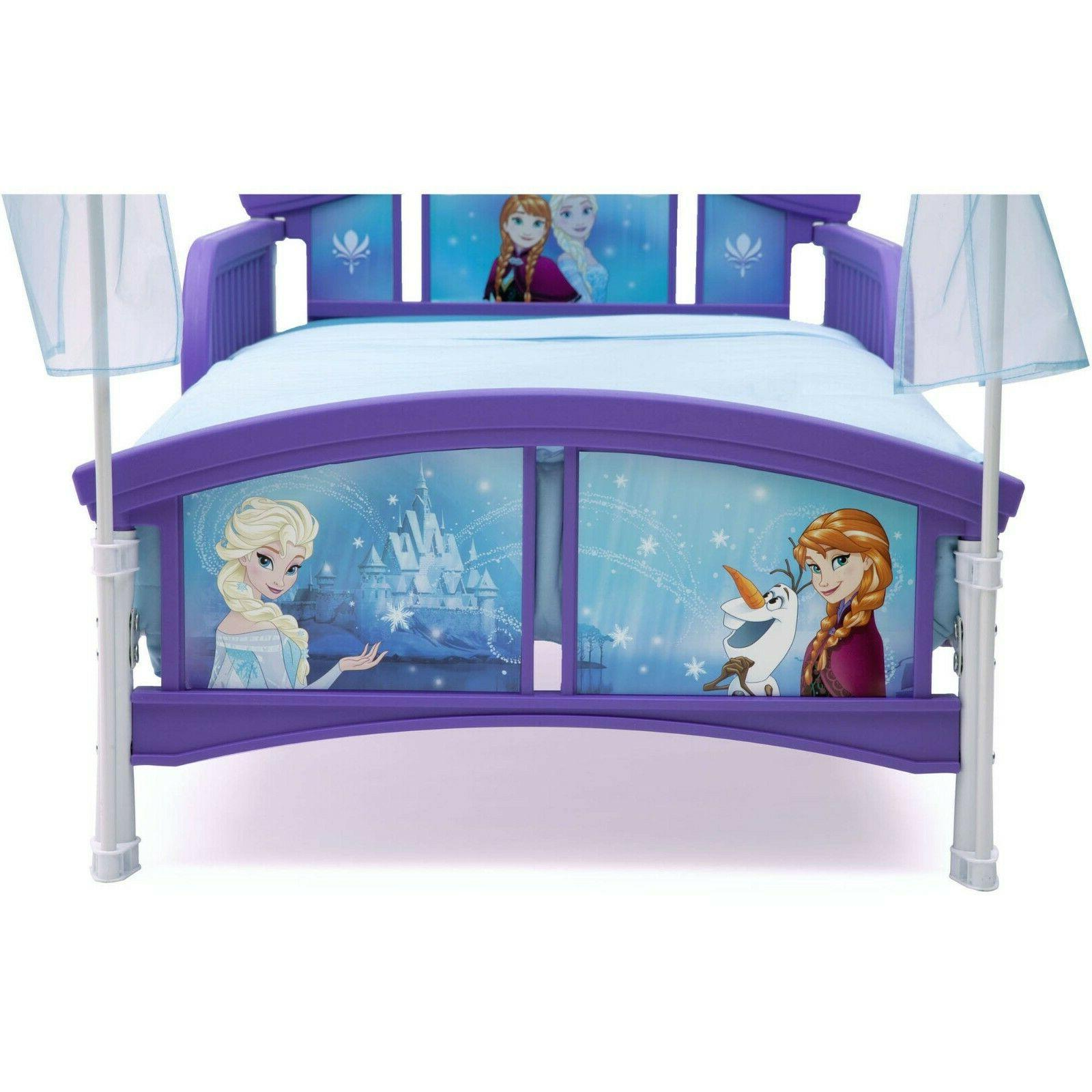 Toddler Frozen Canopy Bed Disny Princess Little For Side Purple