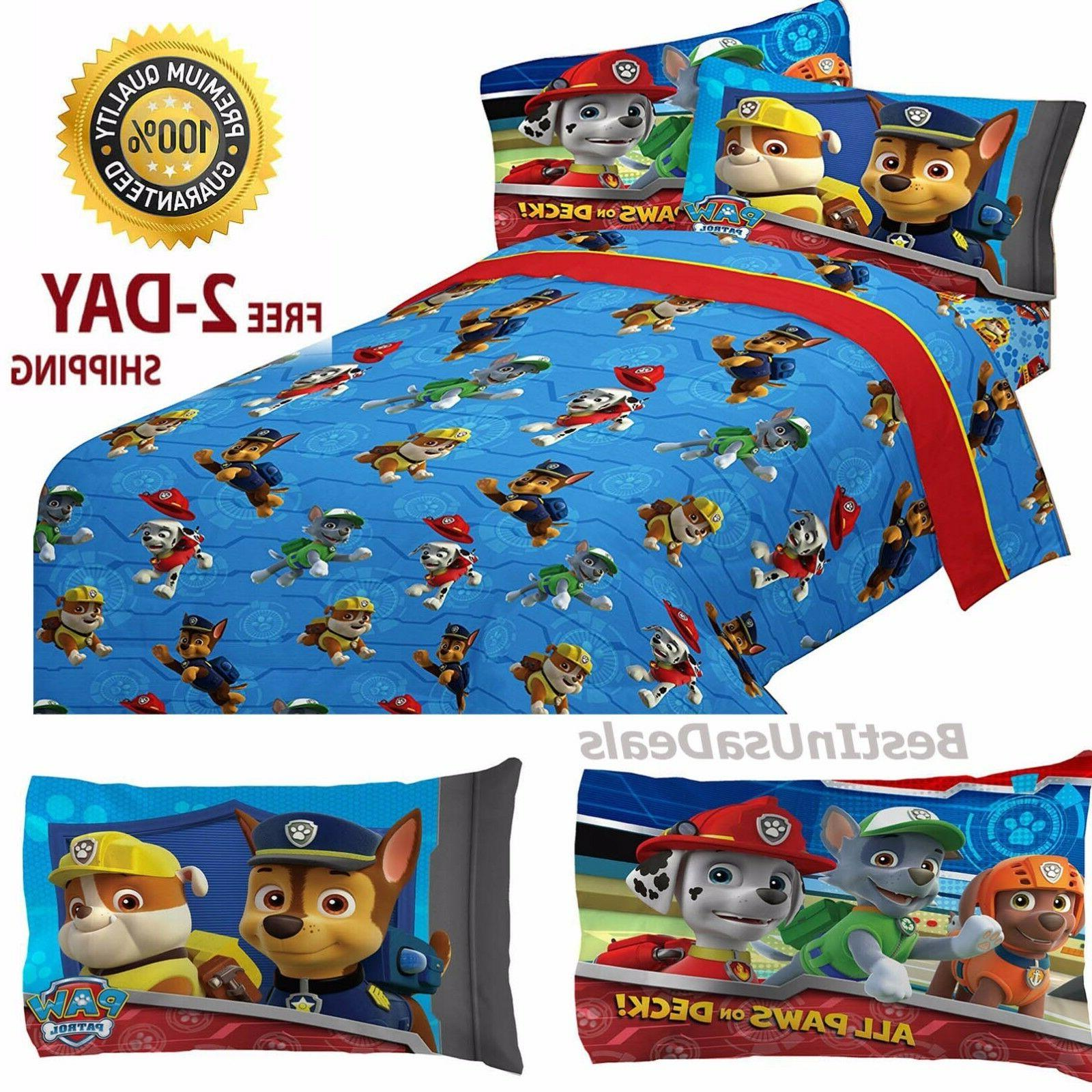 Toddler Bed Sheets Boys Paw Patrol Rescue with Set