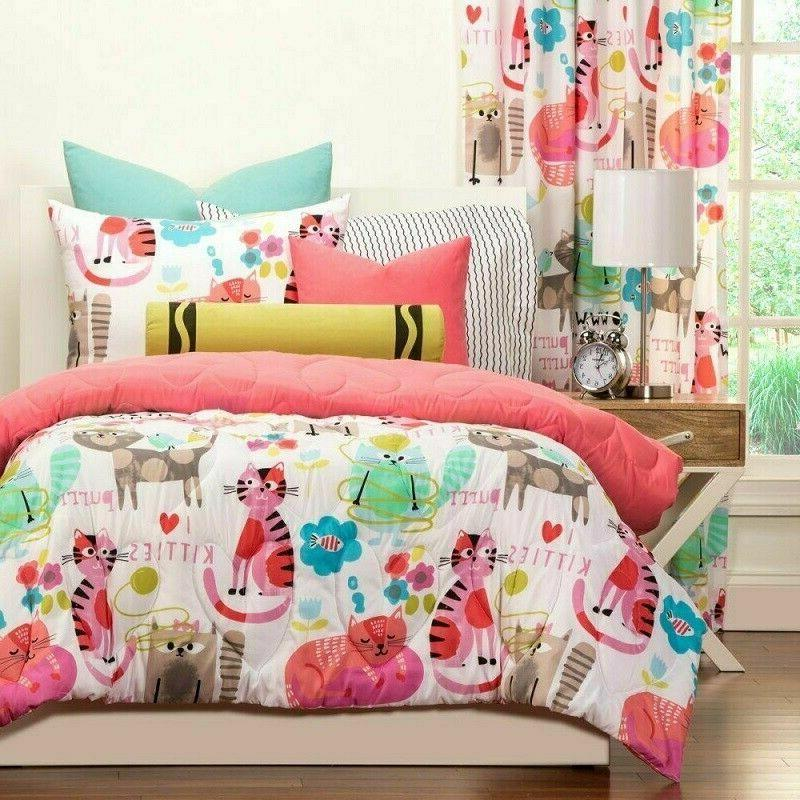 Twin Sets Girls Pink Cats 2pc