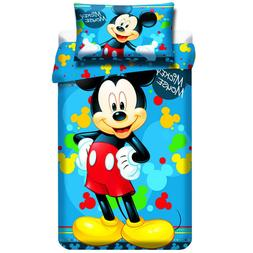 MICKEY MOUSE bedding cotton cot cotbed toddler Disney blue b