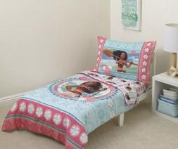 Disney Moana Island Daughter Toddler 4-Piece Bedding Set