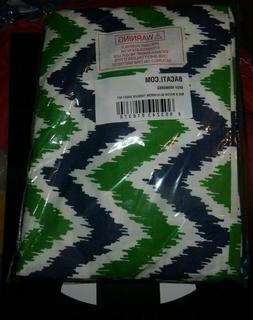 NEW BACATI Percale 3 PC Piece Toddler Crib Bed Set Green Blu