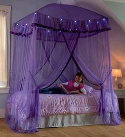 Over Bed Canopy For Girls With Lights Princess Sparkling Kid