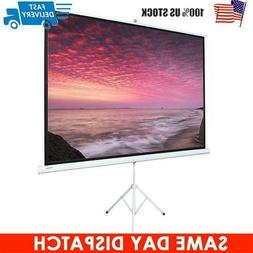 "Portable 100"" 4:3 HD Projection Projector Screen Pull Up wit"