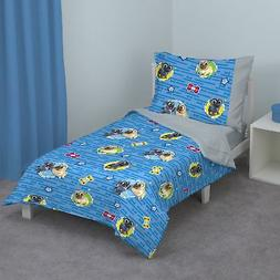 Disney Puppy Dog Pals 4 Piece Toddler Bed Set, Blue/Red/Yell