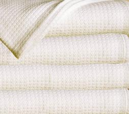 Queen Size Natural Soft Warm Thermal Cotton Blanket Bed Cove