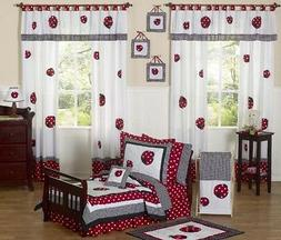 Sweet Jojo Designs 5-Piece Red and White Polka Dot Ladybug G