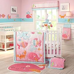 Carter's Sea Collection 4 Piece Crib Set, Pink/Blue/Turquois