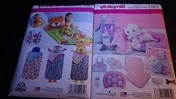 Sewing Craft Patterns Lot 2 BABY TODDLER Bed Puppy Carrier B