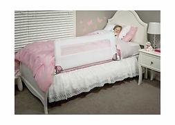 Swing Down Safety Bed Rail Long Security Barrier White Metal