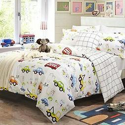 Brandream Toddler Bedding Sets for Boys Cars Vehicles Duvet