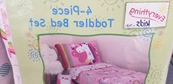 Everything Kids 4-piece Unicorn and Rainbow Toddler bed set